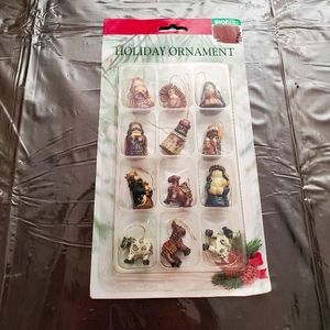 12 pc Nativity Ornament Set